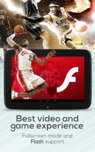 Browser con Flash Player Android integrato 10