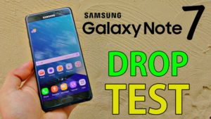 Samsung Galaxy Note 7 Test di caduta guarda il video