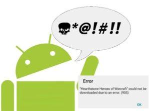 Come risolvere l'errore 905 su Android e da cosa è causato
