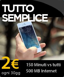 Noitel offre 150 minuti verso tutti e 500 MB di connessione internet a soli 2 Euro al mese