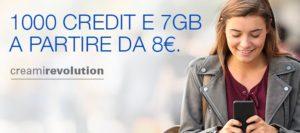Postemobile offre 1000 Credit con 7 GB di connessione internet a 8 Euro