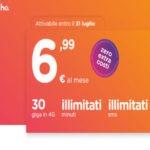 Benvenuto Ho. il nuovo operatore virtuale di Vodafone con minuti e sms illimitati e 30 GB a 6.99 euro al mese