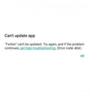 Come risolvere il codice d'errore 404 sul Google Play Store