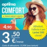 Optima Mobile presenta Optima Comfort l'offerta con minuti sms e GB a 3.50 euro al mese